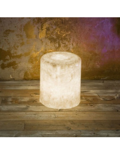 Lampe à poser et pouf lumineux Bin F nebula au design original et moderne en Nebulite