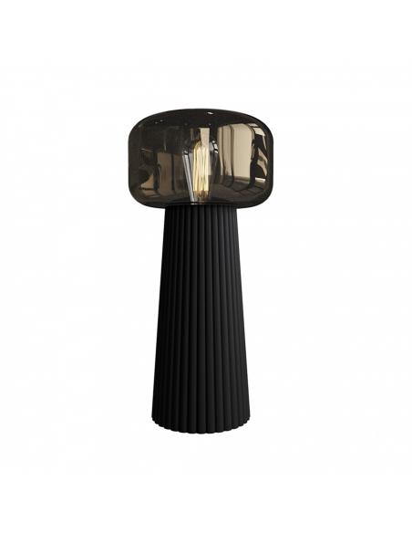Lampe a poser Faro en céramique et abat jour en verre au design contemporain par Maria Khachikyan x Mantra