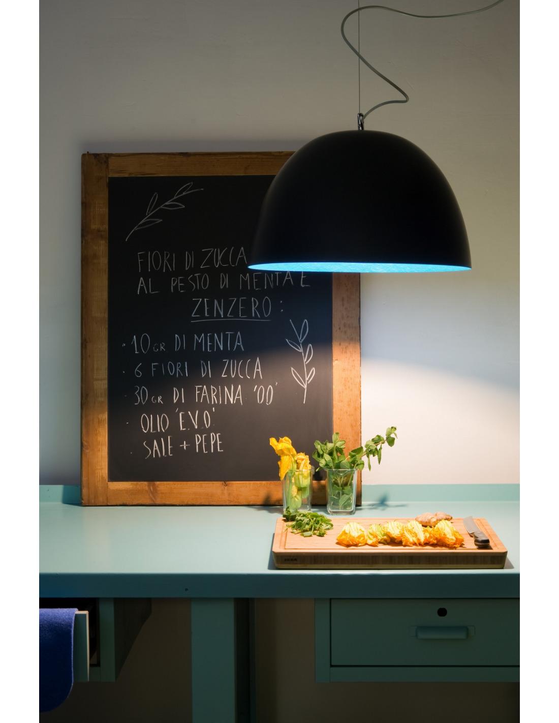 suspension contemporaine h2o lavagna 46cm avec effet tableau noir personnalisable otoko. Black Bedroom Furniture Sets. Home Design Ideas