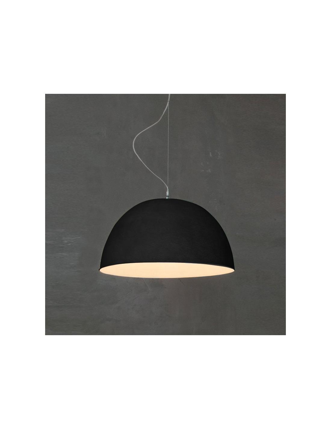 suspension contemporaine h2o noir 46cm moderne et l gante otoko. Black Bedroom Furniture Sets. Home Design Ideas
