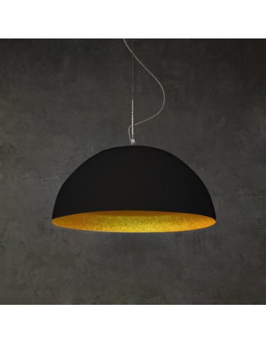 Suspension contemporaine mezza luna 70cm noir moderne for Suspension contemporaine