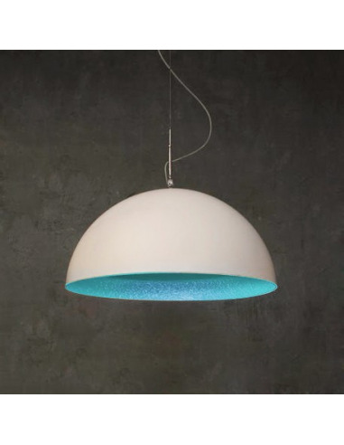 Suspension contemporaine Mezza luna Ø70cm Blanc moderne