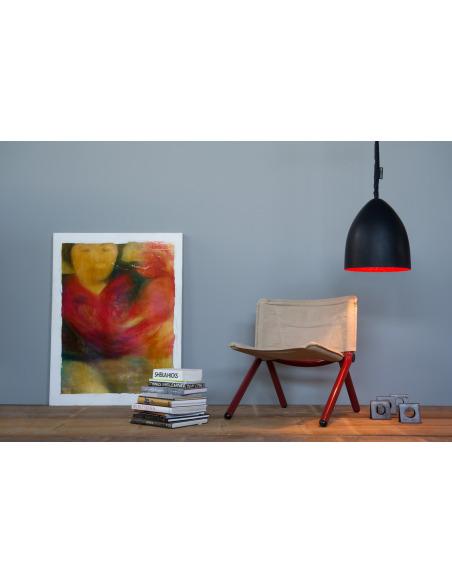 Suspension contemporaine Flower s lavagna avec effet tableau noir personnalisable