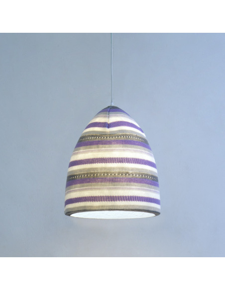 Suspension contemporaine Flower stripe en laine au design moderne et original
