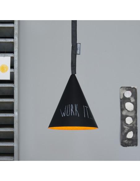 Suspension contemporaine Jazz lavagna avec effet tableau noir personnalisable