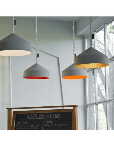 suspension contemporaine cyrcus cemento avec effet b ton. Black Bedroom Furniture Sets. Home Design Ideas