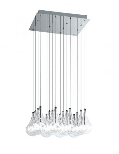 Suspension Drop Led en verre par Cristian Cubiñá x Alma Light