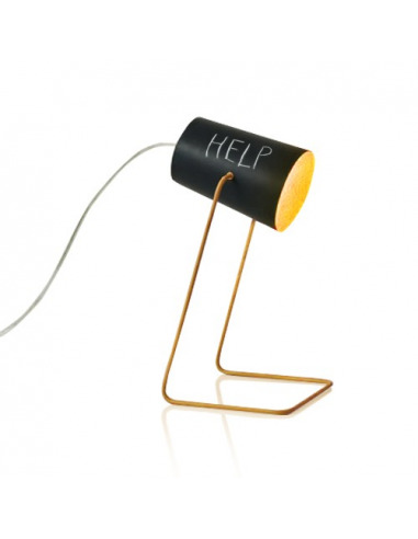 Lampe à poser Paint lavagna avec effet tableau noir personnalisable