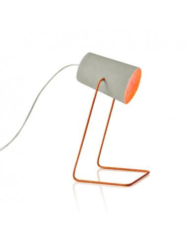 Lampe à poser Paint cemento avec effet béton