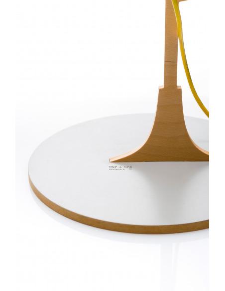 Lampe à poser 2D industriel en bois