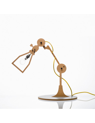 Lampe poser 2d industriel 1 en bois - Lampe a poser industriel ...
