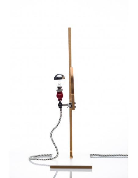 Lampe à poser 2D industriel 2 en bois