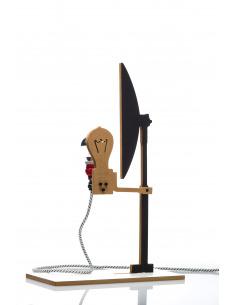 Lampe à poser 2D industriel 3 en bois