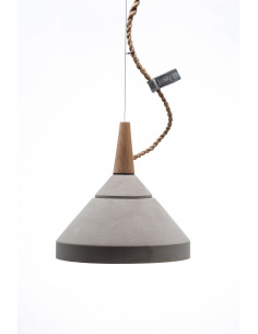 Suspension en béton et bois design Concrete lamp