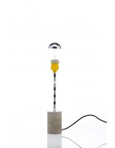 Lampe à poser Concrete round industriel avec une base en béton