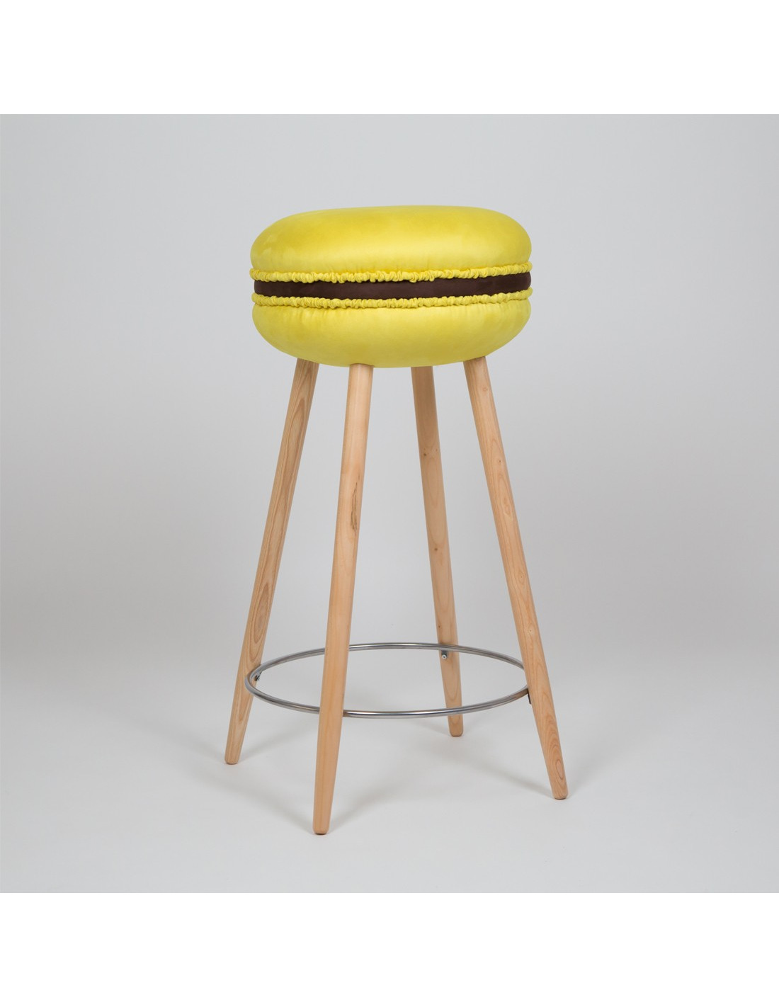 tabouret de bar original makastool l jaune marron en forme. Black Bedroom Furniture Sets. Home Design Ideas