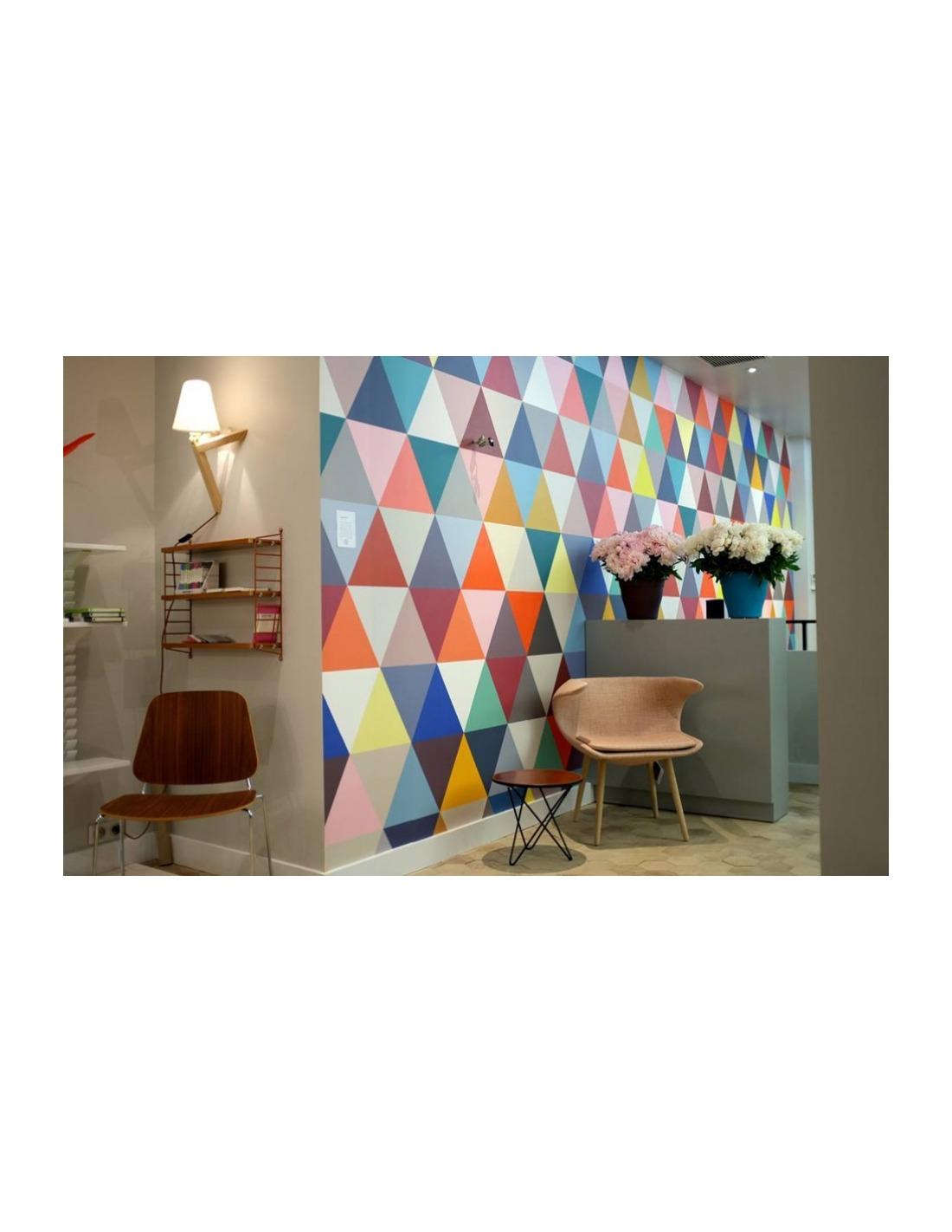 Papier peint design intiss mosaic classic au design for Architecture papier