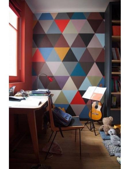 Papier peint design intissé Mosaic Winter au design géométrique