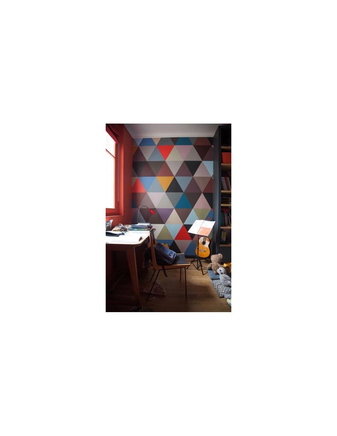 papier peint design intiss mosaic winter au design