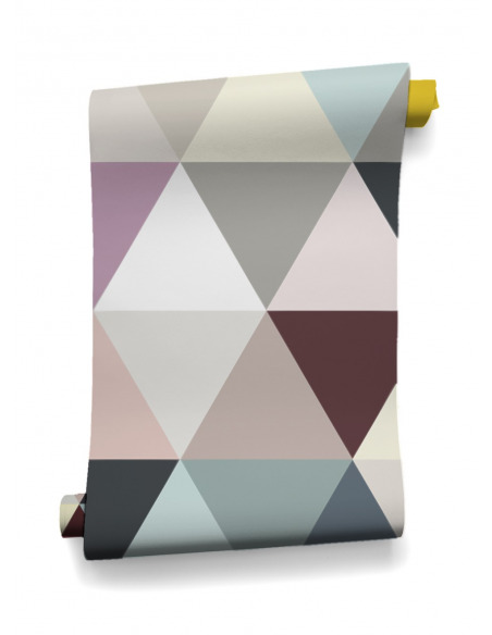 Papier peint design intissé Mosaic Soft au design géométrique