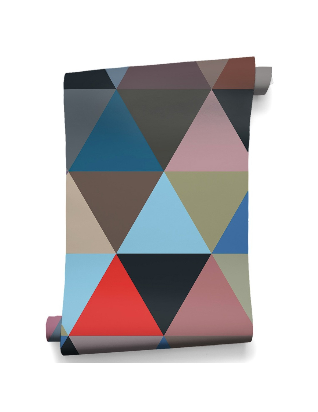 papier peint design intiss mosaic winter au design g om trique otoko. Black Bedroom Furniture Sets. Home Design Ideas