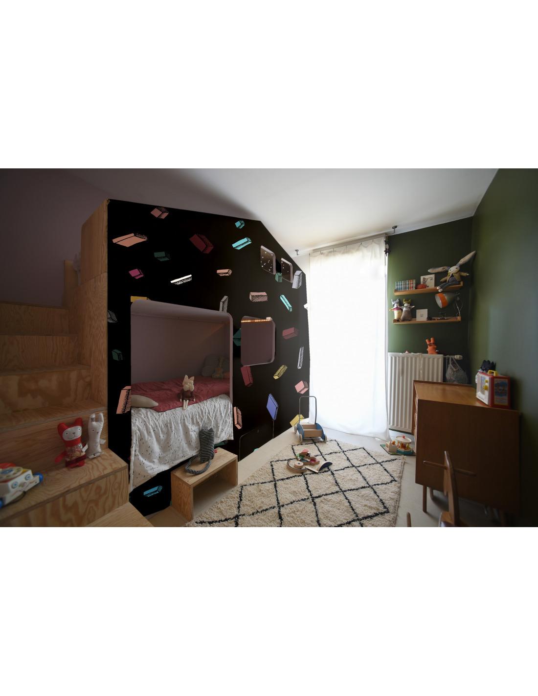 papier peint design intiss carlton noir au design. Black Bedroom Furniture Sets. Home Design Ideas