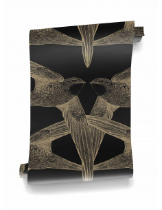 Papier peint design intiss coromandel pr t poser by - Poser papier peint intisse ...