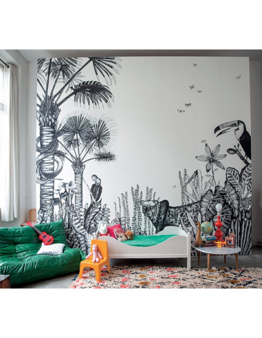 papier peint design intiss the wild large d co jungle pr t poser. Black Bedroom Furniture Sets. Home Design Ideas