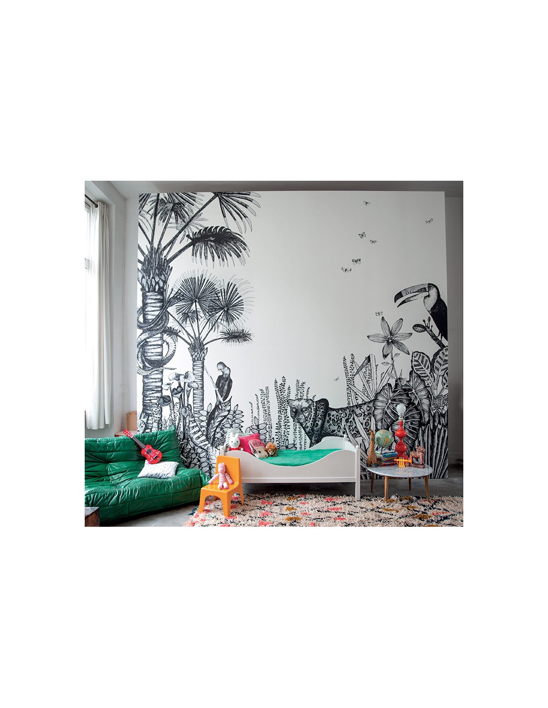 Papier peint design intiss the wild large d co jungle for Papier peint deco