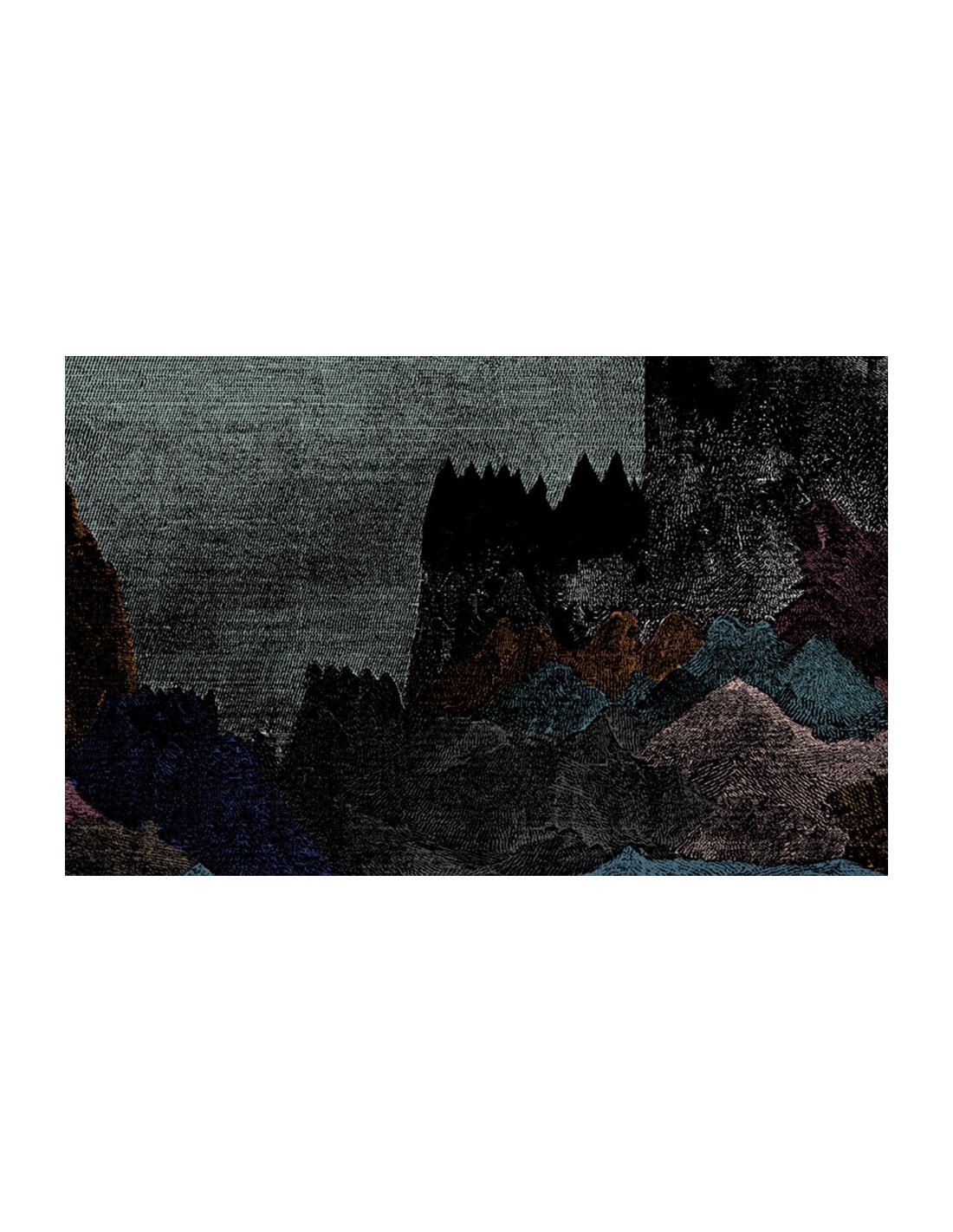 Papier peint design intiss carpates d co mystique et - Poser papier peint intisse ...