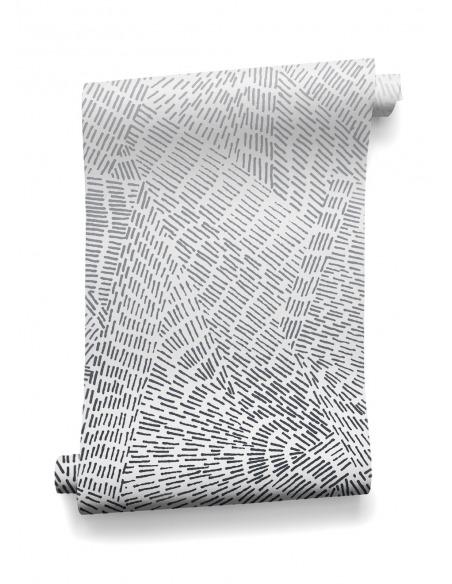 Papier peint au design scandinave et graphique intissé copenhague prêt-à-poser dark et rock