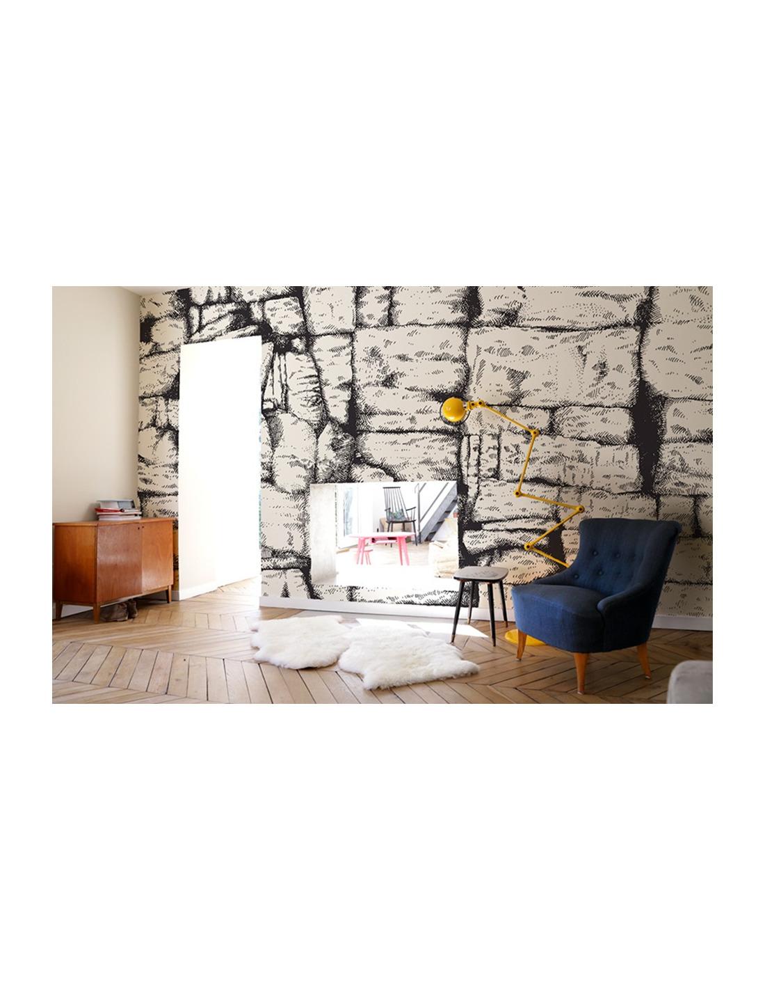 poser du papier peint intiss awesome papier peint vinyle sur intiss aurora marron larg m with. Black Bedroom Furniture Sets. Home Design Ideas