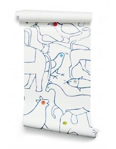 Papier peint design intissé Animals prêt-à-poser en forme d'animaux
