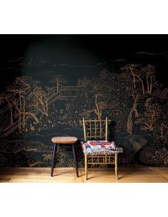 Papier peint design intissé Coromandel au style asiatique prêt-à-poser by Frédéric Bonnin