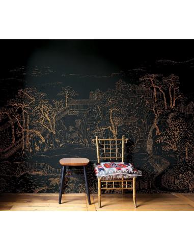 Papier Peint Design Intissé Coromandel Au Style Asiatique Prêt à Poser By  Frédéric Bonnin