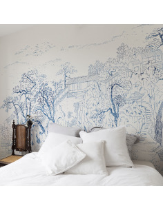 papier peint design intiss coromandel pr t poser by fr d ric bonnin otoko. Black Bedroom Furniture Sets. Home Design Ideas