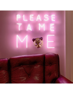 "Applique Néon design Friendship ""PLEASE TAME ME"" par Lilly Ingenhoven"