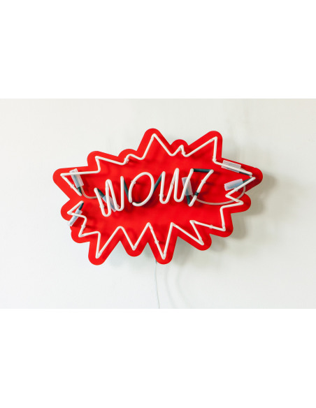 "Applique Néon design WOW! - Texte néon ""WOW!"""