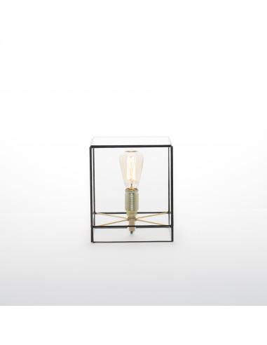 Lampe à poser géométrique Lou au design minimaliste et vintage
