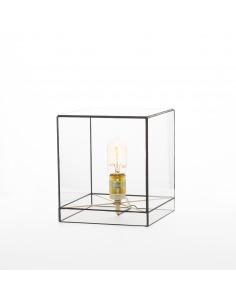 Lampe à poser géométrique grande Lou au design minimaliste et vintage