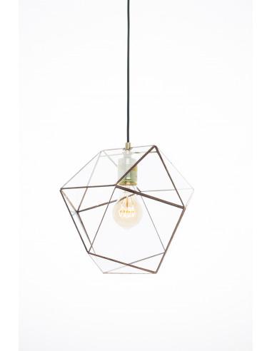 Suspension géométrique grande Yaz au design minimaliste et vintage