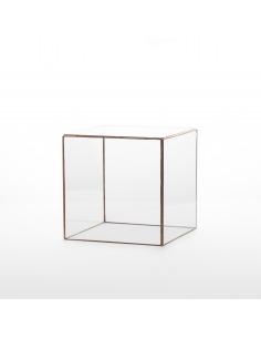 Cube de décoration géométrique Stolp au design minimaliste et vintage