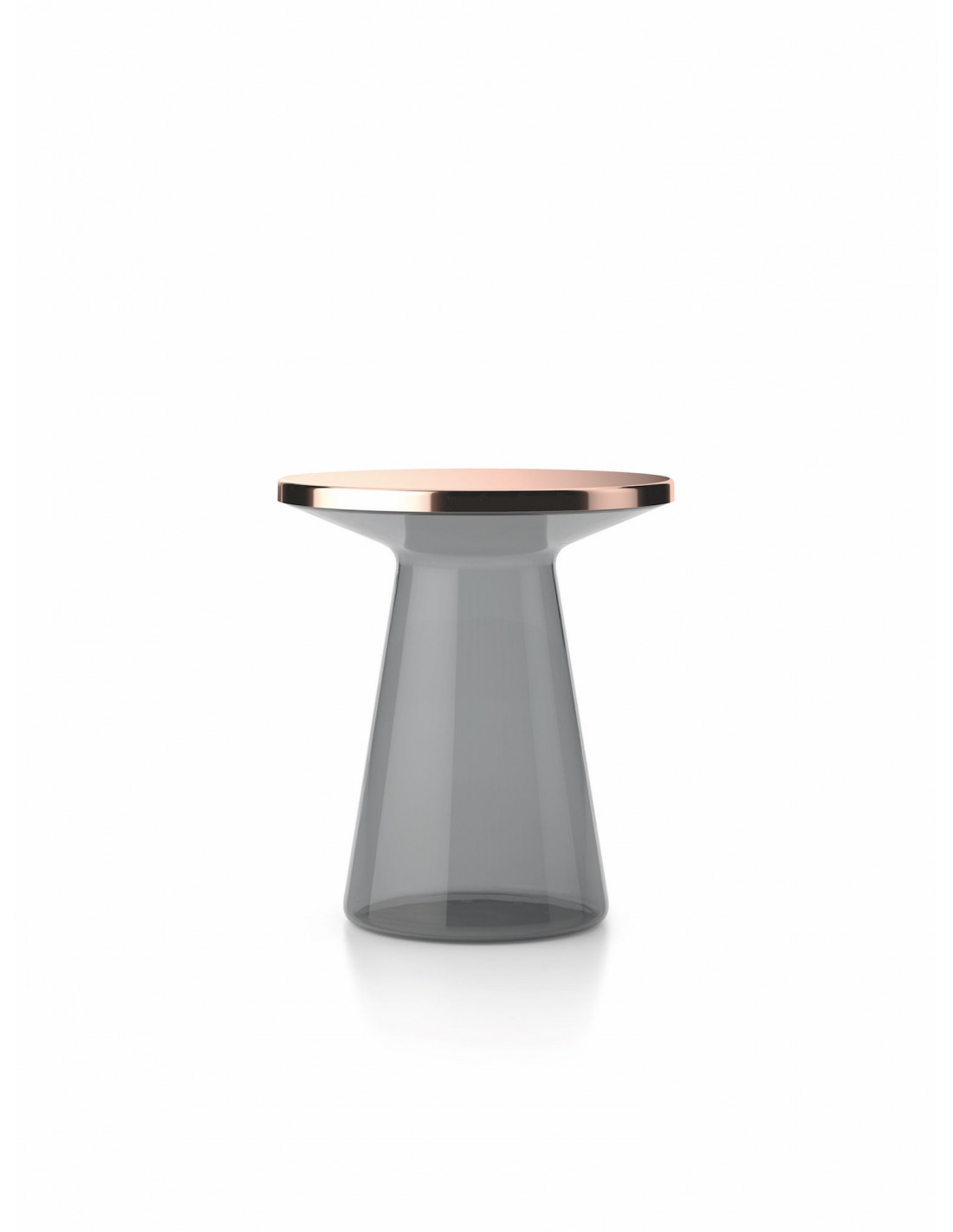 Table de chevet en verre gris design figure otoko - Table de chevet en verre ...