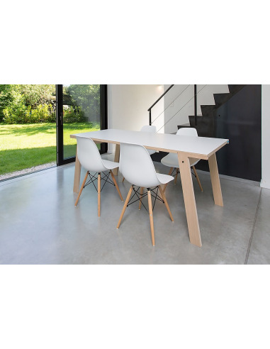 Table Flat S (1m50) en bois au design contemporain