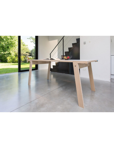 Table Flat M (1m80) en bois au design contemporain