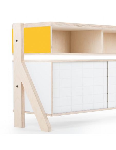 Buffet design Frame 02 M (1m65) au style contemporain et moderne