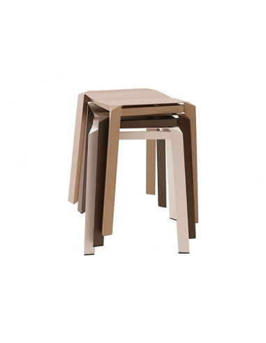 Tabouret empilable design et original Tri Tube en aluminium par Thinkk Studio