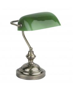 Lampe de table des banquiers au style vintage et retro