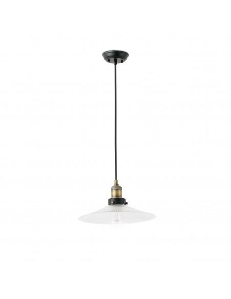 Suspension Retro'Light 3 en métal et cristal au style vintage et retro