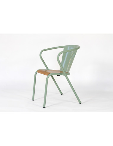 Chaise de bistrot portugais en m tal et bois gon alo au - Chaise de bistrot en bois ...